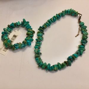 Jewelry - Turquoise Necklace & Bracelet Set